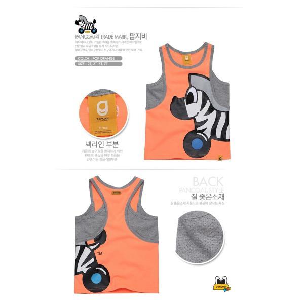 Pancoat パンコート キャラクター T-シャツ BIG POPZEBY KIDS SLEEVELESS T-SHIRTS POP ORANGE 半袖 夏 可愛い Tシャツ パンコート|pancoat|02