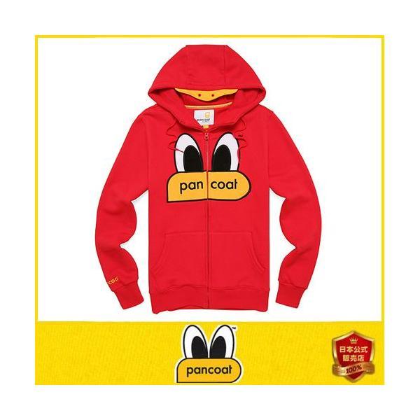 Pancoat ジャケット フード付き 裏地起毛 ジップアップパーカー 冬 Tシャツ パーカー 長袖 HOOD 長袖 パンコート キャラ パンコート pancoat