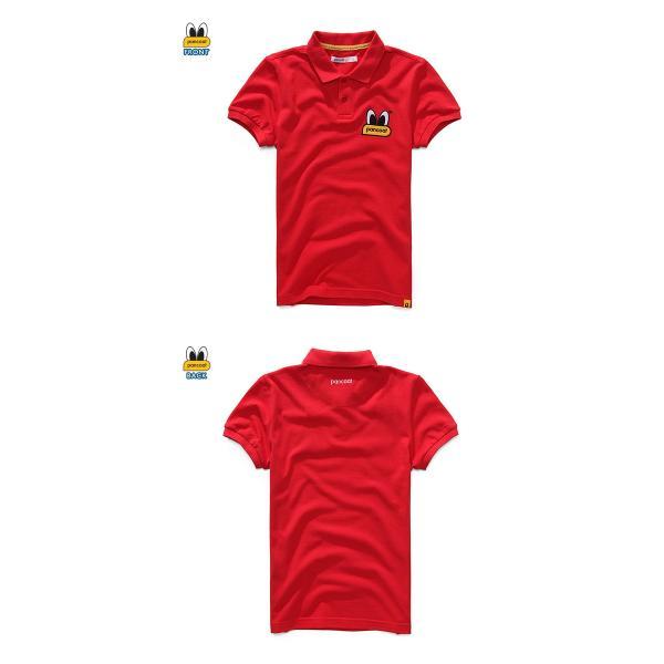 Pancoat パンコート ポロシャツ キャラクター T-シャツ 122 POPEYES P.Q TOMATO RED 半袖 夏 Tシャツ メンズ レディース パンコート|pancoat|02