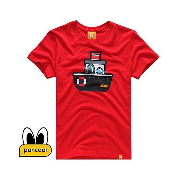 Pancoat パンコート キャラクター T-シャツ POPSHIP T-SHIRTS TOMATO RED 半袖 夏 Tシャツ メンズ レディース パンコート pancoat