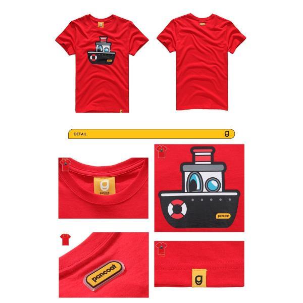Pancoat パンコート キャラクター T-シャツ POPSHIP T-SHIRTS TOMATO RED 半袖 夏 Tシャツ メンズ レディース パンコート pancoat 02