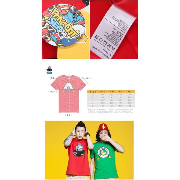 Pancoat パンコート キャラクター T-シャツ POPSHIP T-SHIRTS TOMATO RED 半袖 夏 Tシャツ メンズ レディース パンコート pancoat 03