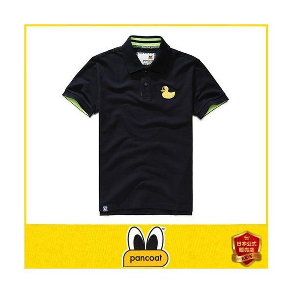 Pancoat パンコート POPDUCK PK T-SHIRTS ULTRA NAVY ブルー ポロシャツ PKシャツ キャラクター T-シャツ T-SHIRTS 半袖 パンコート|pancoat