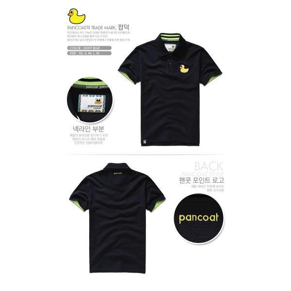 Pancoat パンコート POPDUCK PK T-SHIRTS ULTRA NAVY ブルー ポロシャツ PKシャツ キャラクター T-シャツ T-SHIRTS 半袖 パンコート|pancoat|02