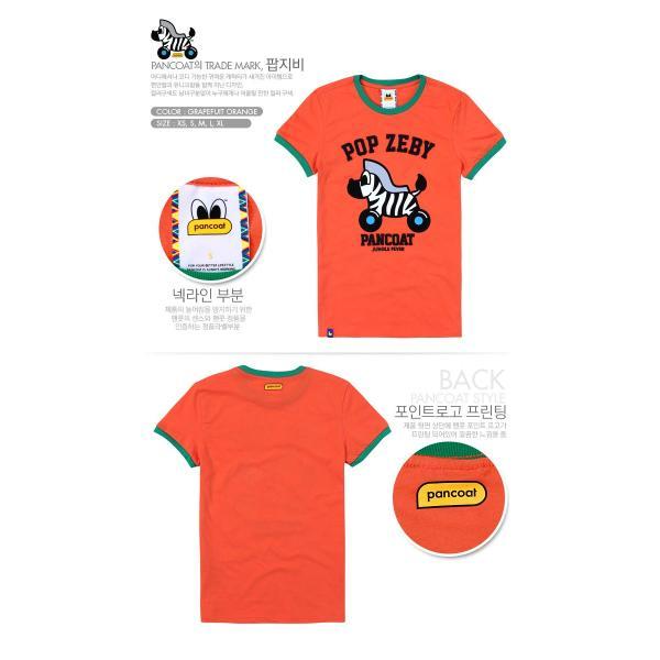 Pancoat パンコート キャラクター T-シャツ POPZEBY TYPOGRAPHY T-SHIRTS GRAPEFUIT ORANGE 半袖 夏 Tシャツ メンズ レ パンコート|pancoat|02