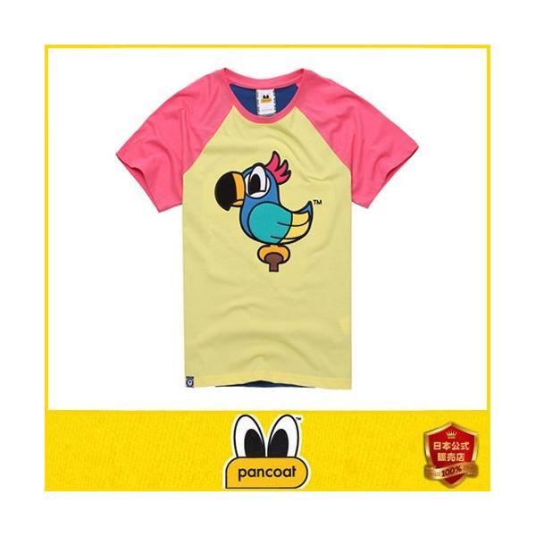 Pancoat パンコート キャラクター T-シャツ POPPARROT RAGLAN T-SHIRTS PINE YELLOW 半袖 夏 Tシャツ メンズ レディース パンコート pancoat