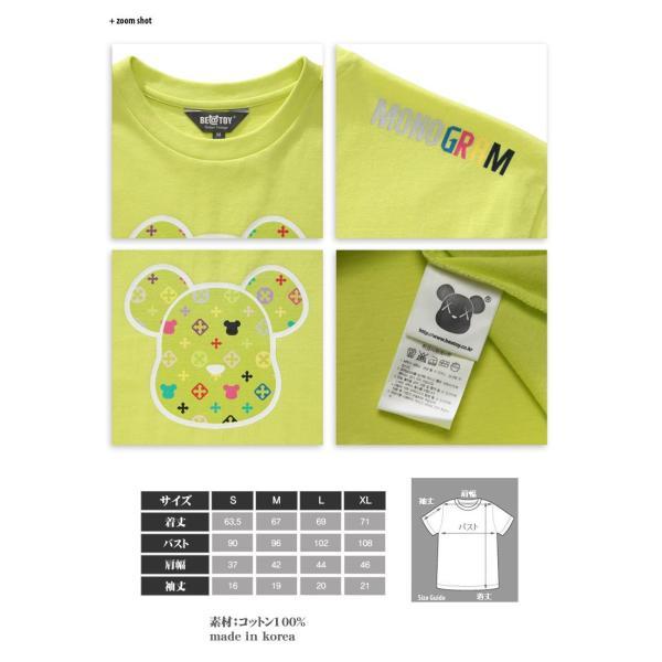 正規品 TEENTOP NIEL ニエル着用 Monogram head_O Green BEATOY T-シャツ、半袖、メンズ、レディース、熊 くま キャラクターT-シャ pancoat 03