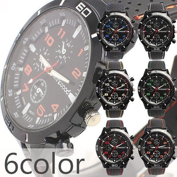ラバー大人気メンズ腕時計時計人気ミリタリー