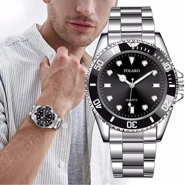 メンズ腕時計クオーツビジネス腕時計ステンレスシルバー