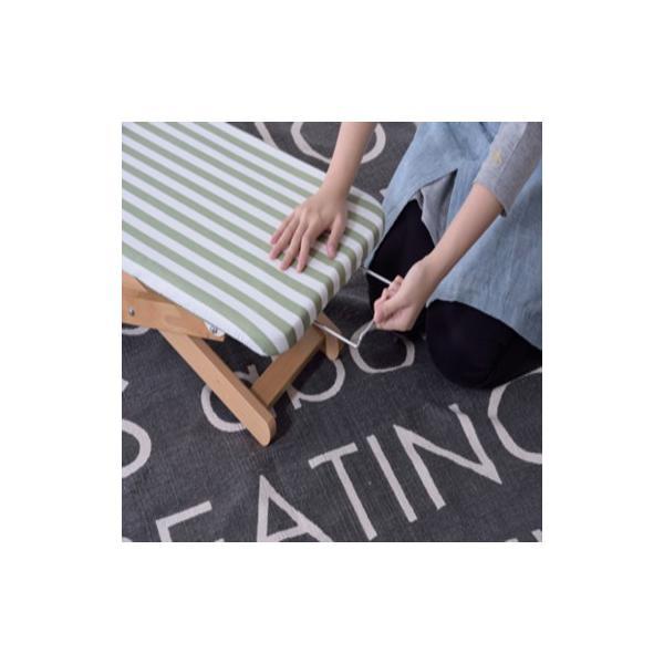 ミーテ アイロン台S ブルー・グリーン lfs-271 ロータイプ 折りたたみ式 高さ調節2段階 アイロン置き付 ナチュラル おしゃれ|pandadiy|07