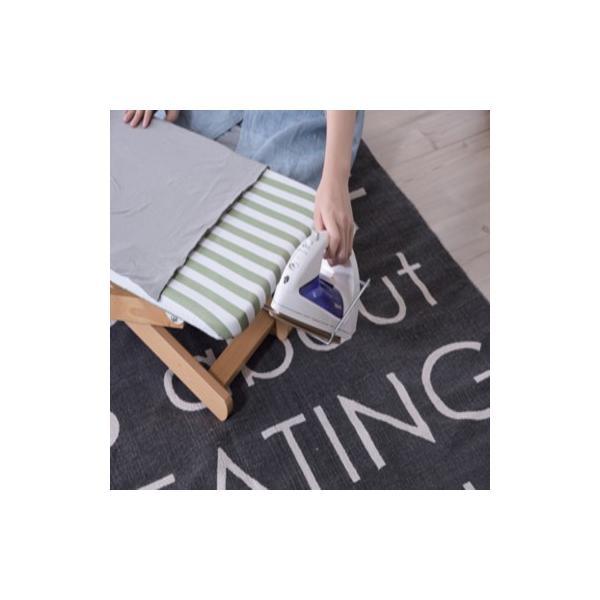 ミーテ アイロン台S ブルー・グリーン lfs-271 ロータイプ 折りたたみ式 高さ調節2段階 アイロン置き付 ナチュラル おしゃれ|pandadiy|08