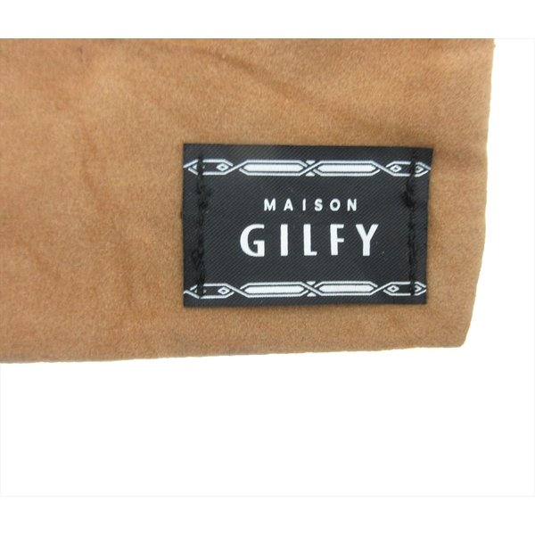 雑誌付録 GILFY(ギルフィー) フリンジチャーム付き スウェードポーチ レディース 大人 小物入れ ブラウン キャメル b01