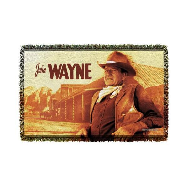 """ジョン ウェイン アフガン スロー ブランケット ソファー John Wayne Old West ライセンス ブランケット 36"""" X 60"""""""