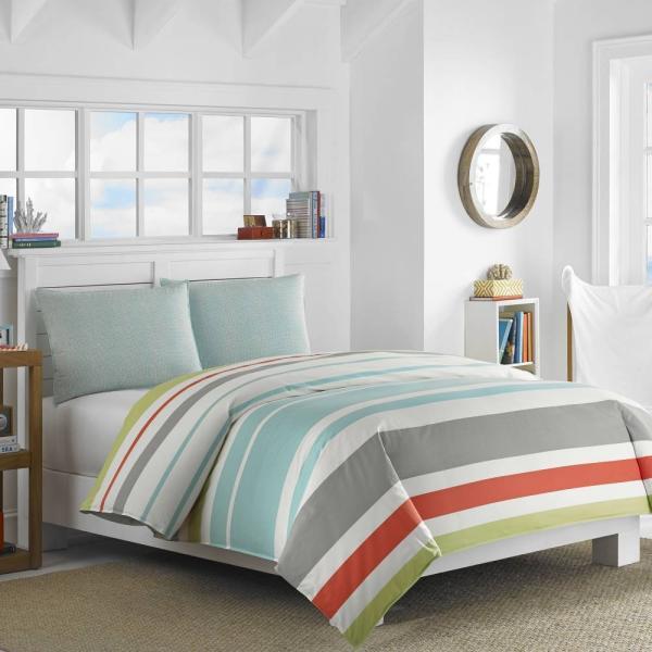 掛け布団 セット ノーティカ Nautica Taplin Twin Comforter Set