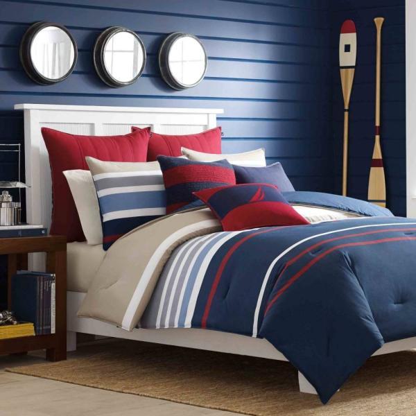 掛け布団 セット ノーティカ Nautica Bradford Twin Comforter Set