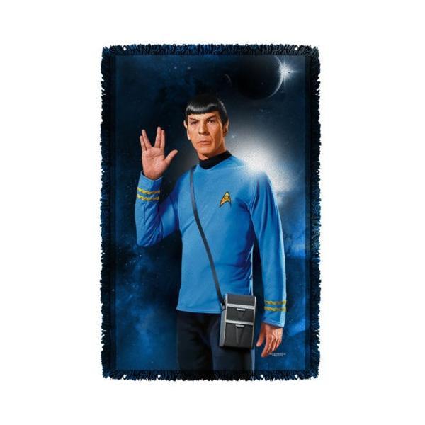 """スタートレック アフガン スロー ブランケット ソファー Star Trek クラシック Spock Live Long ライセンス ブランケット 36"""" X 60"""""""
