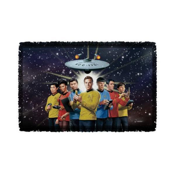 """スタートレック アフガン スロー ブランケット ソファー Star Trek クラシック Original Crew ライセンス ブランケット 36"""" X 60"""""""