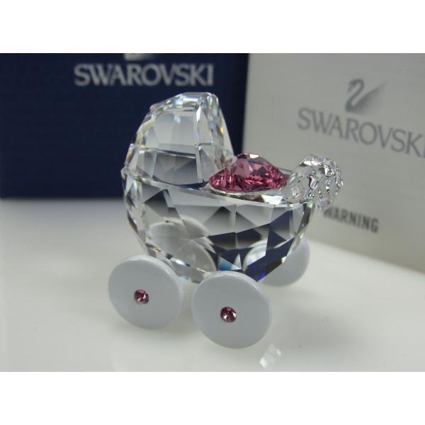 スワロフスキー フィギュア おもちゃ コレクター 趣味 置き物 インテリア スワロフスキ ベビー CARRIAGE- PRAM MIB #5003407