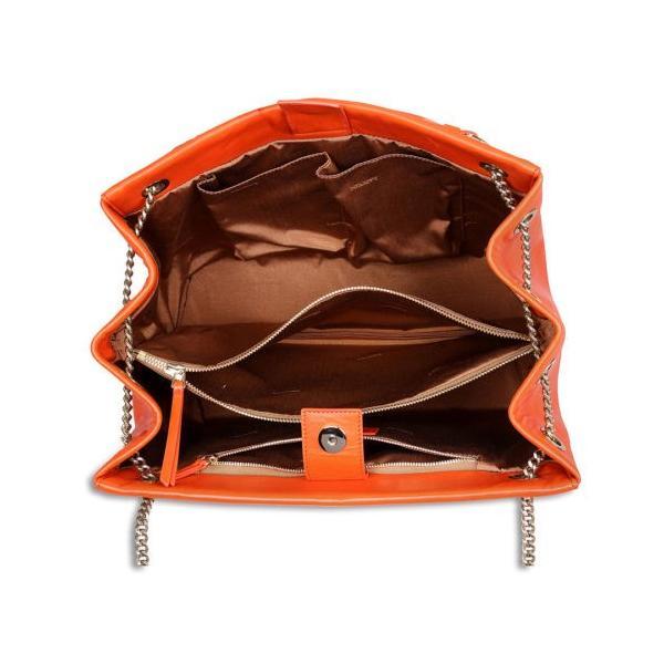 ハンドバッグ・財布 ランバン Lanvin Sugar Quilted レザー Shoulder バッグ - オレンジ