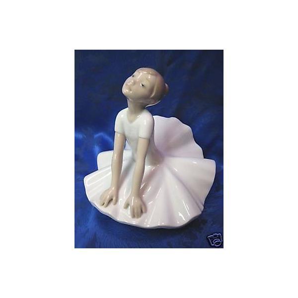 リアドロ THINKING POSE BALLET FEMALE GIRL DANCER BALLERINA PORCELAIN NAO LLADRO #1612