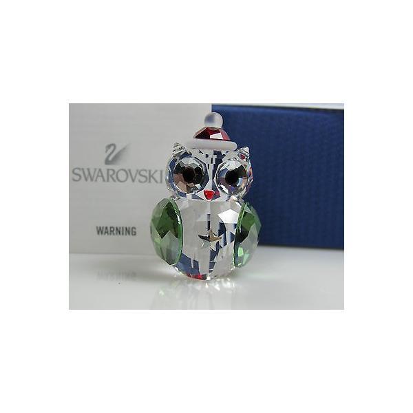 スワロフスキー オーナメント クリスマス 置き物 イベント スワロフスキ クリスマス ROCKING OWL MIB #1140812