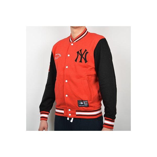 Majestic MLB New York Yankees Senell Fleece Letterman jacket A6NYY5504RED05X