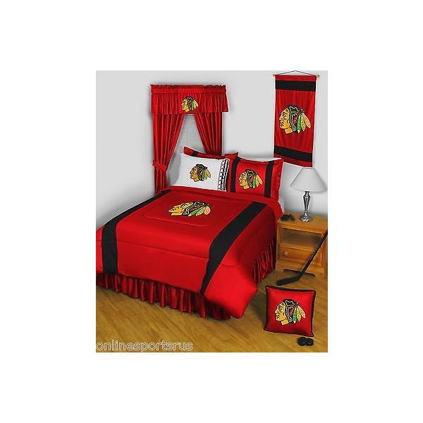 掛け布団 セット Chicago Blackhawks Comforter Sham & Sheet Set Twin Full Queen King Size