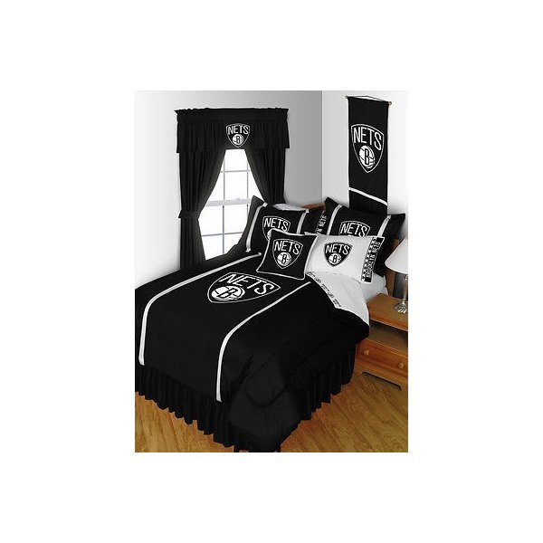 掛け布団 セット Brooklyn Nets Comforter Sham and Sheet Set Twin Full Queen King Size