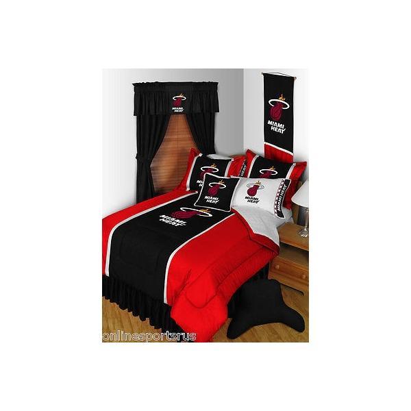 掛け布団 セット Miami Heat Comforter Sham Bedskirt Pillowcase Valance Twin Full Queen King SIze