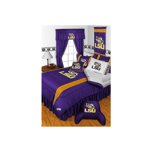 掛け布団 セット LSU Louisiana Tigers Comforter Sham & Sheet Set Twin Full Queen King Size