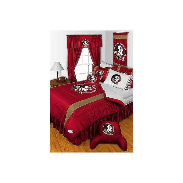 掛け布団 セット Florida Seminoles Comforter Bedskirt Sham Curtains Valance Twin to King Size