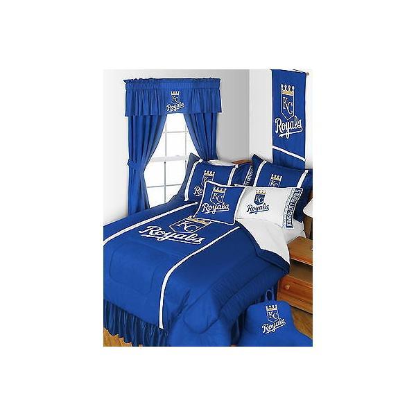 掛け布団 セット Kansas City Royals Comforter Sham & Sheet Set Twin Full Queen King Size