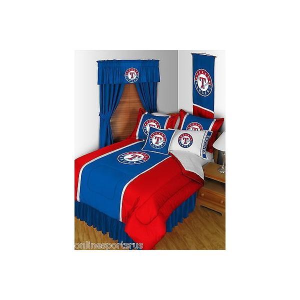 掛け布団 セット Texas Rangers Comforter Sham & Sheet Set Twin Full Queen King Size
