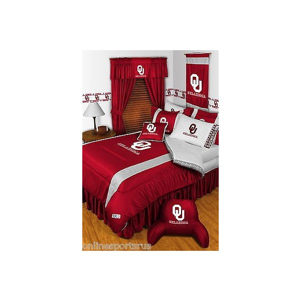掛け布団 セット Oklahoma Sooners Comforter Sham Bedskirt Curtains Valance Twin to King Size