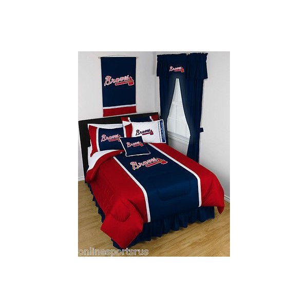 掛け布団 セット Atlanta Braves Bed in a Bag Twin Full Queen King Size Comforter Set