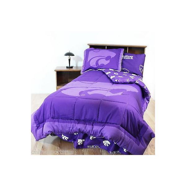 掛け布団 セット Kansas Wildcats Comforter Sham & Pillowcase Twin Full Queen King Size CC