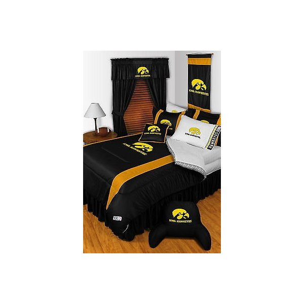 掛け布団 セット Iowa Hawkeyes Comforter Sham Bedskirt Drapes Valance Twin Full Queen King Size