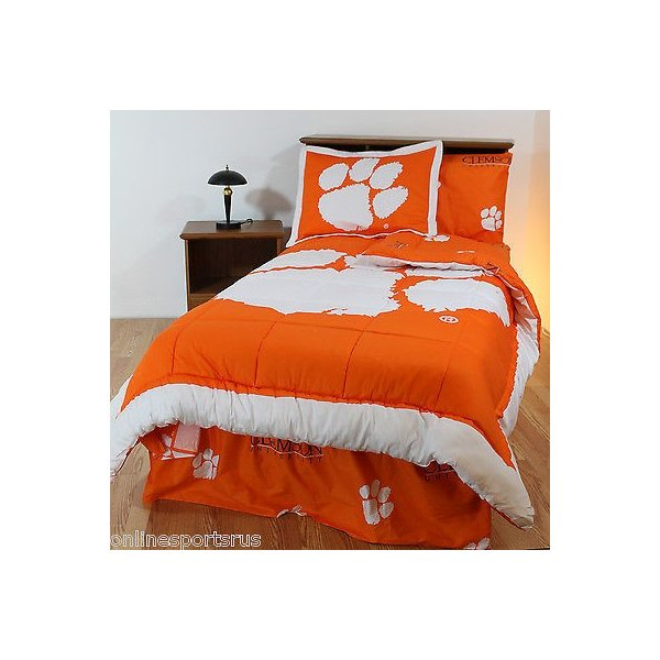 掛け布団 セット Clemson Tigers Comforter Sham Sheet Set Twin Full Queen King Size CC