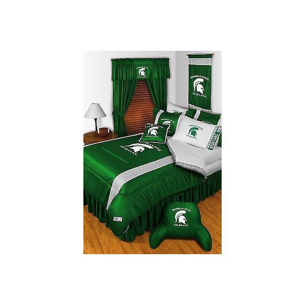 掛け布団 セット Michigan State Spartans Comforter Sham Bedskirt Curtain Set Twin to King
