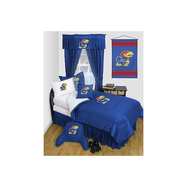 掛け布団 セット Kansas Jayhawks Comforter & Pillowcase Twin Full Queen Size LR