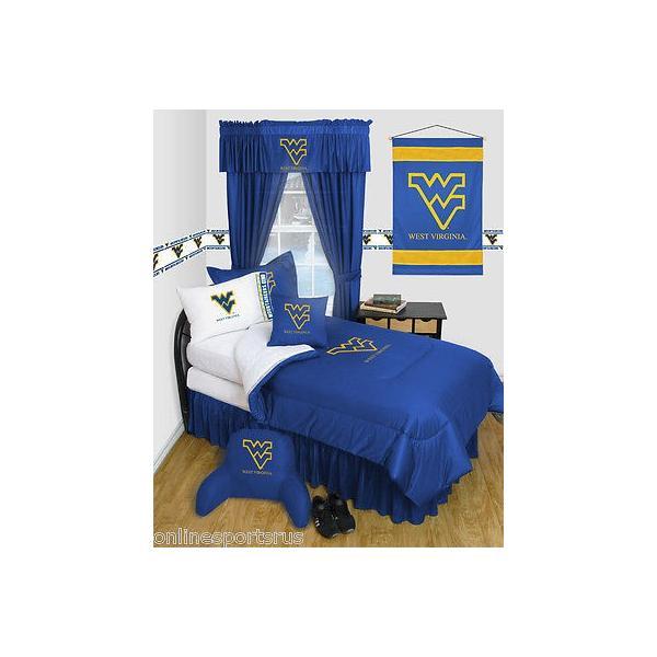 掛け布団 セット West Virginia Mountaineers Comforter & Pillowcase Twin Full Queen Size LR