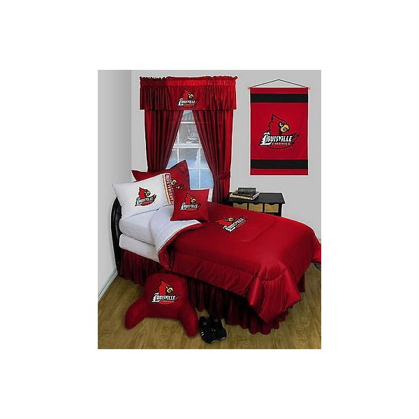 掛け布団 セット Louisville Cardinals Comforter & Pillowcase Twin Full Queen Size LR