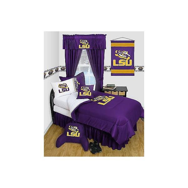 掛け布団 セット Louisiana Tigers Comforter & Pillowcase Twin Full Queen Size LR