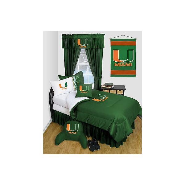 掛け布団 セット Miami Hurricanes Comforter & Pillowcase Set Twin Full Queen Size LR