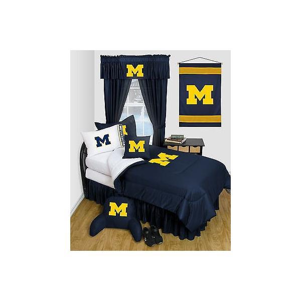 掛け布団 セット Michigan Wolverines Comforter & Pillowcase Twin Full Queen Size LR
