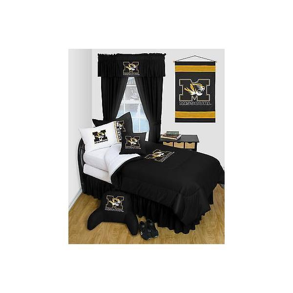 掛け布団 セット Missouri Tigers Comforter & Pillowcase Twin Full Queen Size LR