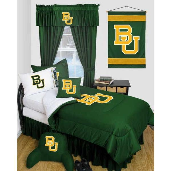 掛け布団 セット Baylor University Bears Comforter Sham & Pillowcase Twin Full Queen LR