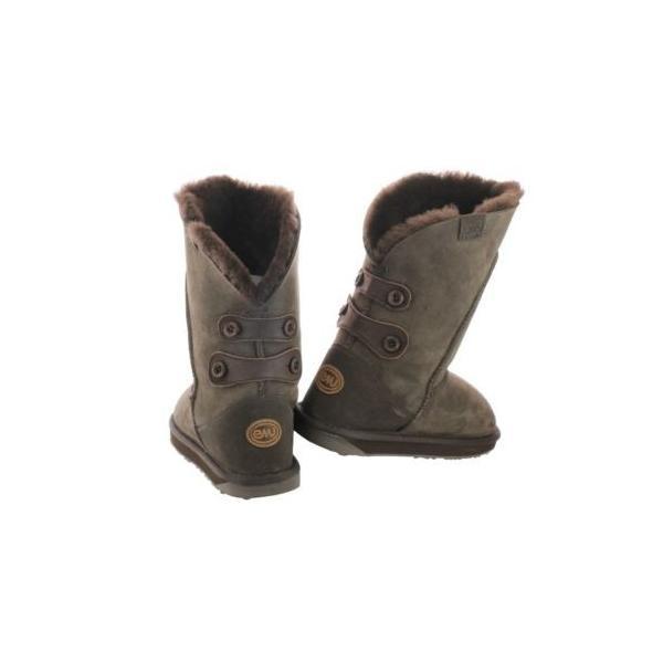 エミューブーツ シューズ 靴Emu Alba Australian シープスキン W10088-CHOC ブーツ チョコレート ミディアム (B M) 5 レディース