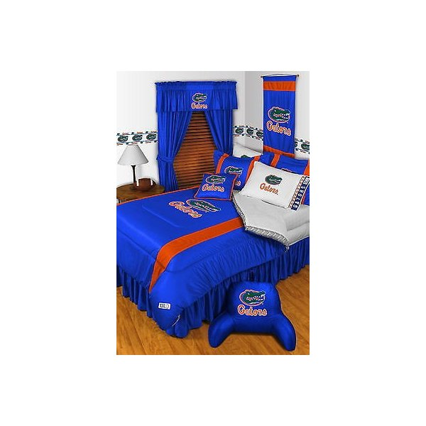掛け布団 セット Florida Gators Comforter Sham Bedskirt Curtains & Valance Twin to King Size