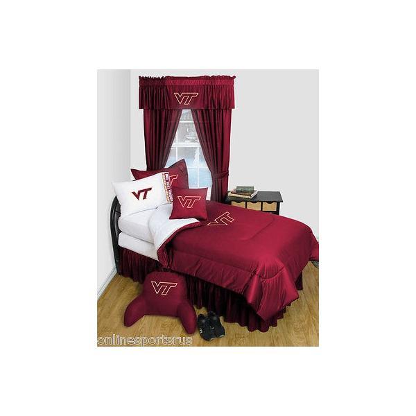 掛け布団 セット Virginia Tech Comforter & Sham Twin Full Queen Size Sets LR